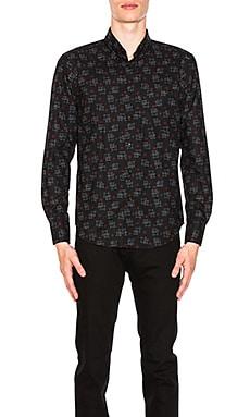 Kasuri Print Shirt