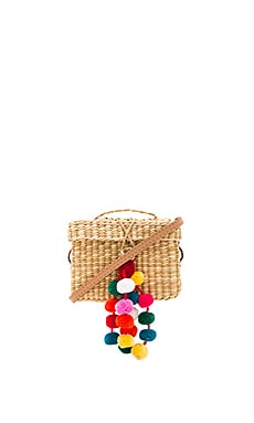 Baby Roge Multi Pompom Bag in Off White