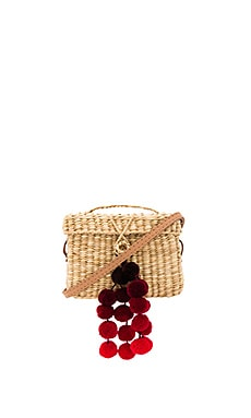 Baby Roge Cascade Red Pompom Bag en Off White
