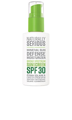 Mineral Sun Defense Moisturizer Broad Spectrum Sunscreen SPF 30 Naturally Serious $34 BEST SELLER