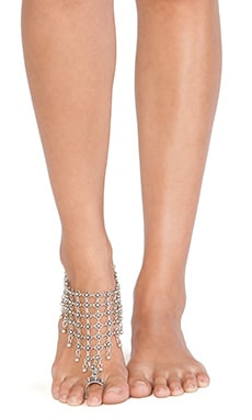 Natalie B Jewelry Queen's Veil Anklet in Silver