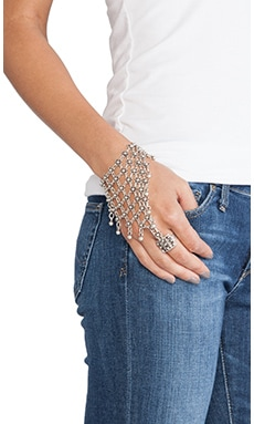 Natalie B Jewelry Queen's Veil Hand Chain in Silver