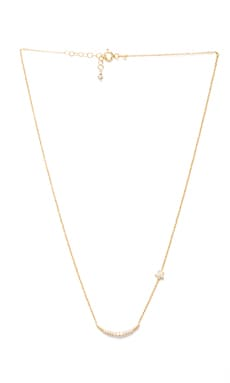 Natalie B Ottoman Moon and Star Necklace en Dorado