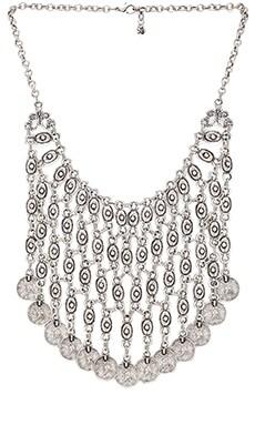 Natalie B Jewelry Azra Necklace in Zinc