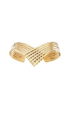 Natalie B Jewelry Lightning Huggy Bracelet in Gold