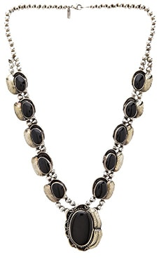 Natalie B Jewelry Two Raven Necklace in Onyx
