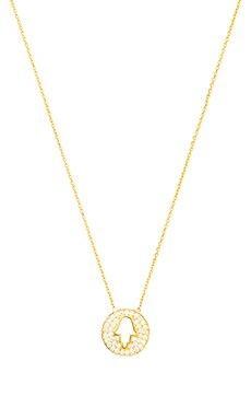 Natalie B Jewelry Hamsa Charm Necklace in Gold