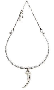 Natalie B Jewelry Talon Collar Necklace in Silver