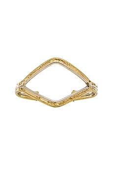 Natalie B Jewelry Wide Mouth Bracelet in Brass