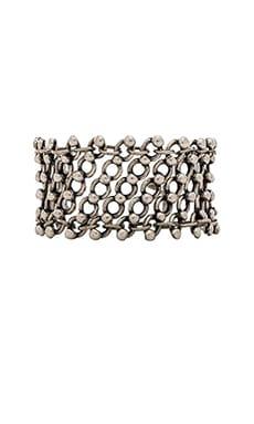 Natalie B Jewelry Knight's Armor Bracelet in Silver