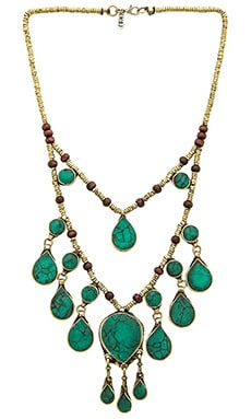 Natalie B Jewelry The Lady Madonna Necklace in Pacific Green