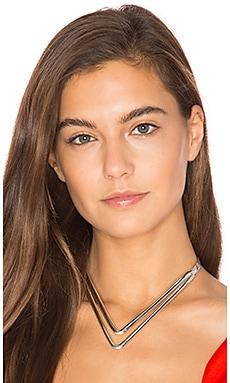 Natalie B Jewelry Aurora Choker in Silver