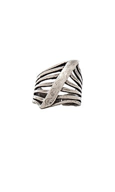 Natalie B Jewelry Steel Me Ring in Silver
