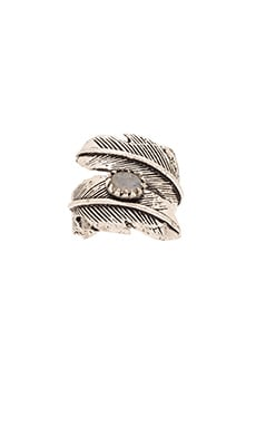 Natalie B Jewelry Light as a Feather Ring in Silver & Moonstone