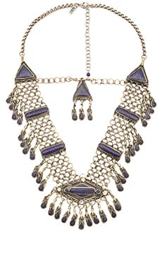 Natalie B Jewelry Haya Necklace in Lapis