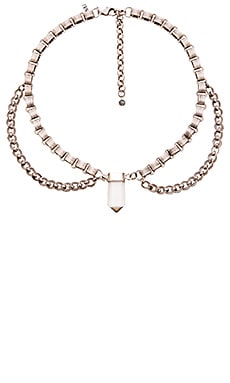 Natalie B Jewelry Healing Necklace in Silver & Clear Crystal