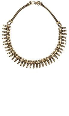 Natalie B Jewelry Rani Bib Necklace in Brass