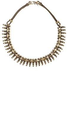Natalie B Jewelry Rani Bib Necklace in Brass