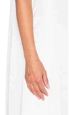 Natalie B Jewelry Leela Handpiece in Gold & Labradorite
