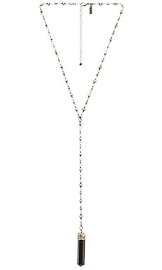 Natalie B Jewelry Crystalized Necklace in Silver & Onyx