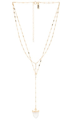 Natalie B Jewelry Lost & Found Necklace in Gold & Clear Quartz