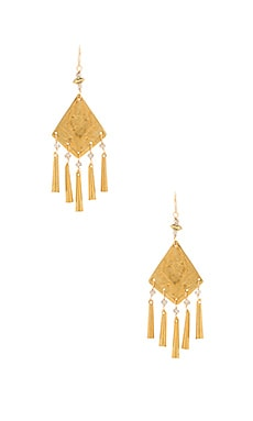 Natalie B Jewelry Vintage Mali Earrings in Gold