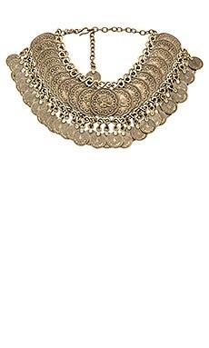 Natalie B Jewelry Cyprus Bazaar Coin Choker in Brass