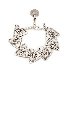 Natalie B Jewelry Wild Arrows Bracelet in Silver