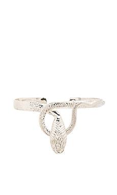 Natalie B Jewelry Medusa Wrist Huggy in Silver