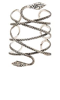 Natalie B Jewelry Viper Cuff in Silver