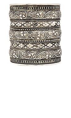 Natalie B Jewelry Azteca Bracelet in Silver & Floral