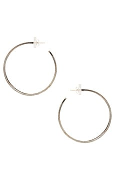 Natalie B Jewelry Brushed Hoop Earrings in Silver