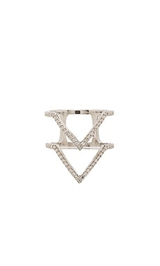 Natalie B Jewelry Twinvies Ring in Silver