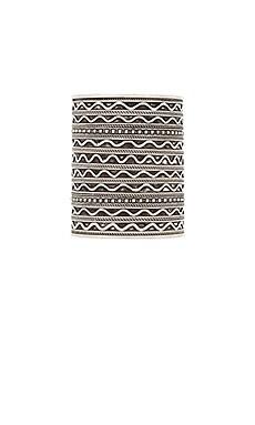 Natalie B Jewelry Azteca Tribal Cuff in Silver & Tribal