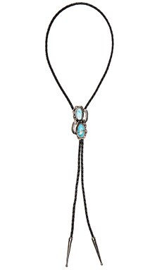 Cheyenne Bolo Necklace in Silver & Turquoise