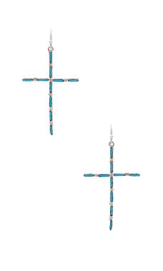 Calico Cross Earring