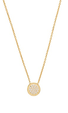 Natalie B Ottoman Small Disc Necklace en Or