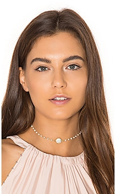 Natalie B Jewelry Silverite Chain & Freshwater Pearl Buried Treasure Necklace in Talya
