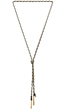 Natalie B Jewelry Lyra Lariat in Gold & Black
