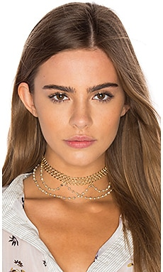 x REVOLVE Lexington Choker in Gold & Silverite