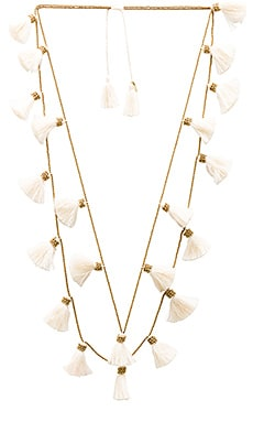 Dara Tassel Necklace en Or & Ivoire