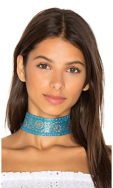 Marari Choker in Blue & Gold