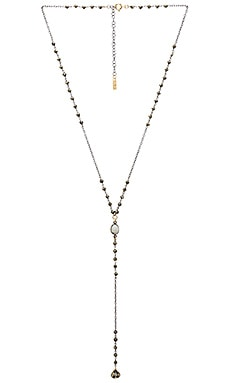 Stevie Lariat in Pyrite & Silver