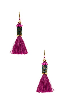 Kata Cylinder Tassel Earrings