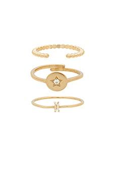 Фото - Набор колец cosmos - Natalie B Jewelry цвет металлический золотой