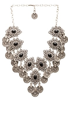 Natalie B Jewelry Eyes of Troy Necklace en Argent