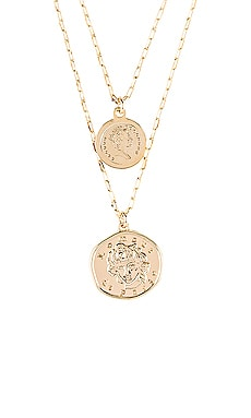 x REVOLVE Lomour Double Coin Necklace Natalie B Jewelry $99