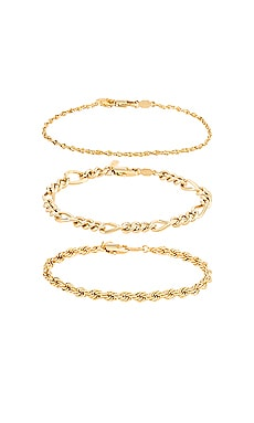 CONJUNTO DE PULSERAS TRIPLE CROWN Natalie B Jewelry $59