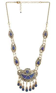 Natalie B Jewelry 7 Seas Necklace in Lapis