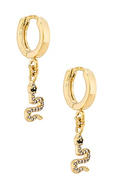 Petite Serpent Huggy Hoop Earring Natalie B Jewelry $51